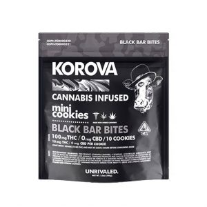 Korova Black Bar Bites 100mg