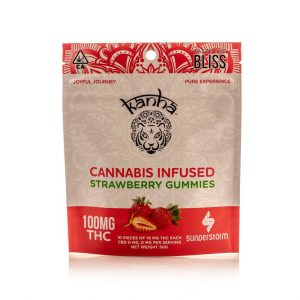 Kanha 100MG Gummies STRAWBERRY INDICA