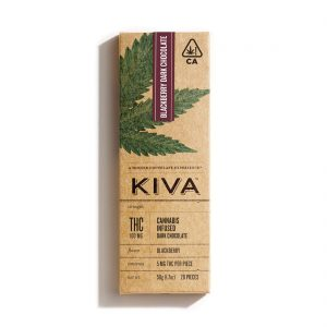 Kiva Blackberry Chocolate Bar