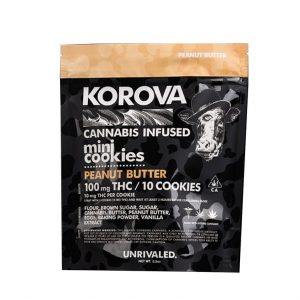 Korova 100mg MINI Peanut Butter