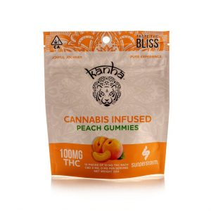 Kanha 100MG Gummies PEACH