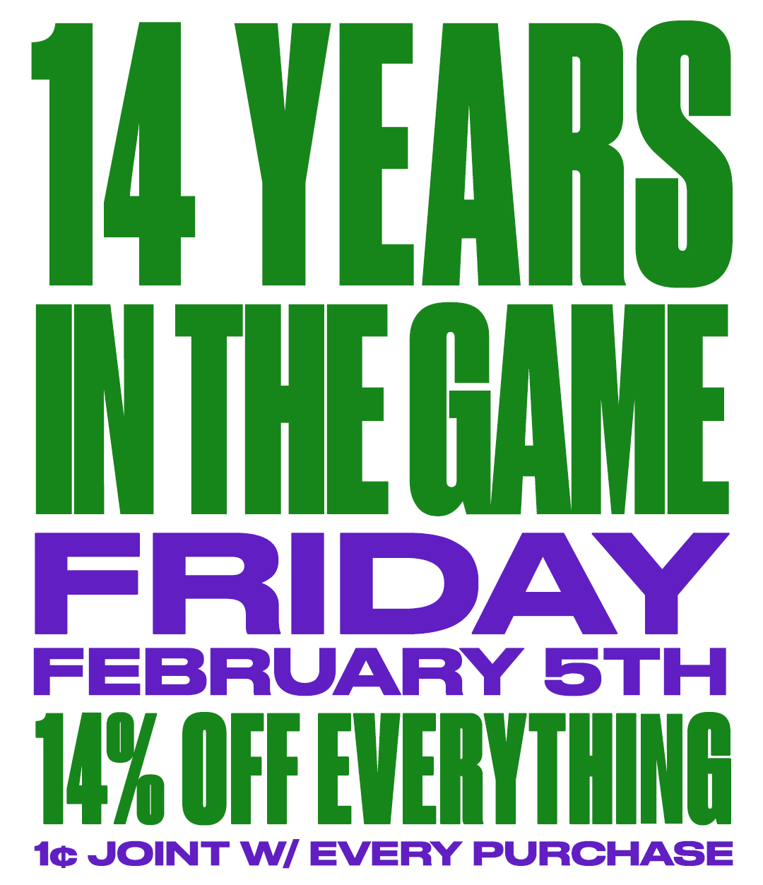 14 Years In The Game. Come Celebrate LAVC's Anniversary This Friday (2/5)